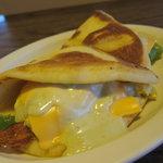 Tandori breakfast sandwich