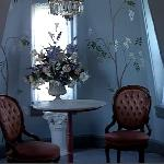 I wish I had time to sit down and have tea. A lovely alcove in the Turret suite