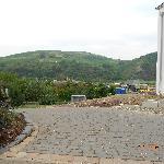 View towards river & concrete Lock structure