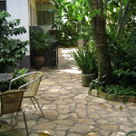 Lush courtyard greets you every morning!