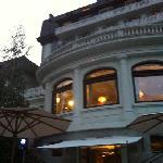 finestre del ristorante dal bar