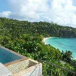 Vue sur Petite Anse + piscine privée