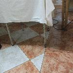 Rusty table in dining room