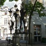 Piazzetta alberata a due passi dalla casa di Delacroix