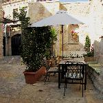 Gloria Courtyard...where you can share a coffee with a friend.
