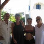 George et Irène avec ma femme et ma fille
