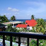 Balkon mit Blick auf die Bucht Süßwasser