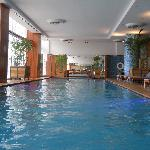 Heated swimming pool on the second floor