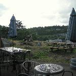 Oregon City - Highland Stillhouse Pub, outdoor dining with river view