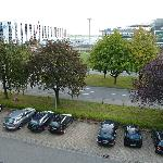 Ausblick aus dem Zimmer zur Flughafenseite