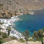 loutro from the coastal path.