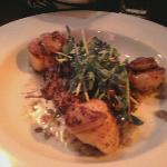 the scallops...blah!