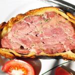 Pate en Croute (marinated veal and pork pieces in pastry)