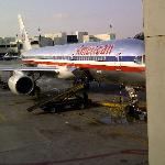 "The ""AA"" aircraft we arrived on from Miami"