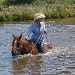 A long held ambition to swim my horse!