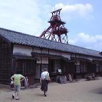 炭坑住宅が再現されています
