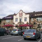 Facade of Premier Inn and The Darrington Inn