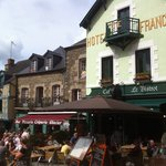 Cafe de France, Josselin, daytime