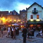 Cafe de France, Josselin, on a summers evening