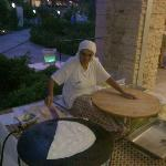 Turkish women cooking at dinner out side the main restaurant