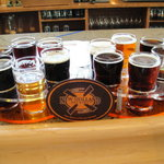 Six beer sampler at New Holand