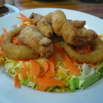 salad with chicken fingers