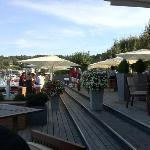 the other side is the bar section, it's also on the lake side