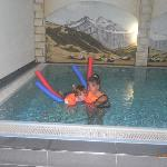 Hotel Swimming Pool has fun floats for guests.