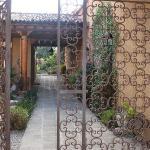Through the wrought iron gate