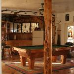 The bar and pool table