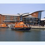 RNLI college with lifeboat