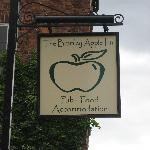 The sign at the front of the inn