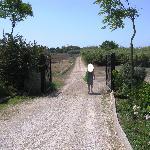 Strada per andare dall'hotel alla spiaggia
