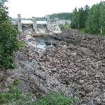 Der Imatra Staudamm