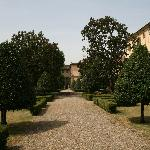 the Palazzo, on the right, from the garden