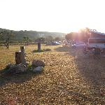 l'interno del camping