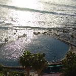 Die Meerespiscina bei Sonnenuntergang