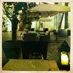restaurant dans le patio
