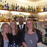 All girls liked the bartender !