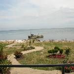 View from the balcony overlooking lake Erie