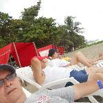 Disfrutando e las playa