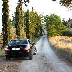 Driveway leading into Villa