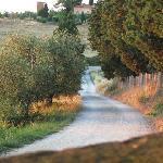 Back road leading into Villa