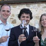 Bride and Groom with Sommelier