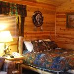 Bed in typical cabin