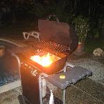 BBQ grill at the villa