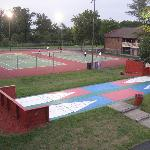 Tennis Court and Shuffle Board