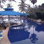 Pool bar, morning view