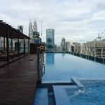 the pool with view