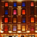 Concorde Hotel Frankfurt - Front at night